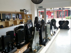 New Headstone Shop interior